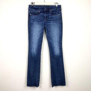 American Eagle Size 6 Long Kick Boot Stretch Jeans